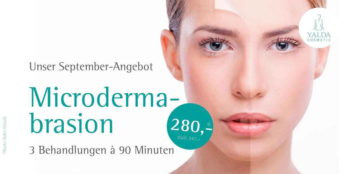 September-Angebot von Yalda Cosmetic: Microdermabrasion - 3 Behandlung à 90 Minuten für 280,- Euro
